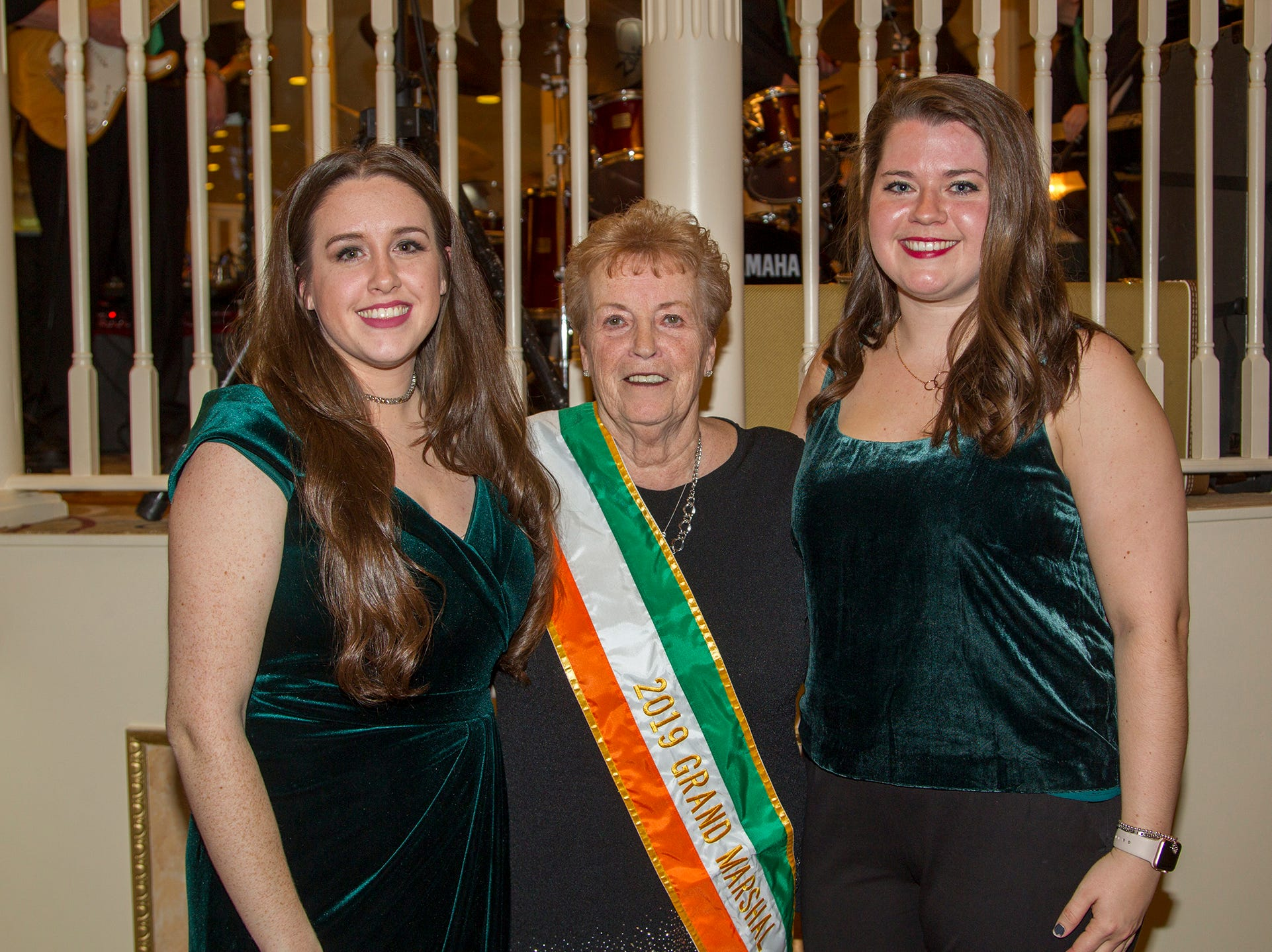 Mairead Early, Patricia McLoughlin, Shannon Corrigan. 38th Annual St. Patrick's Day parade Installation Dance at The Graycliff in Moonachie. 2/23/2019