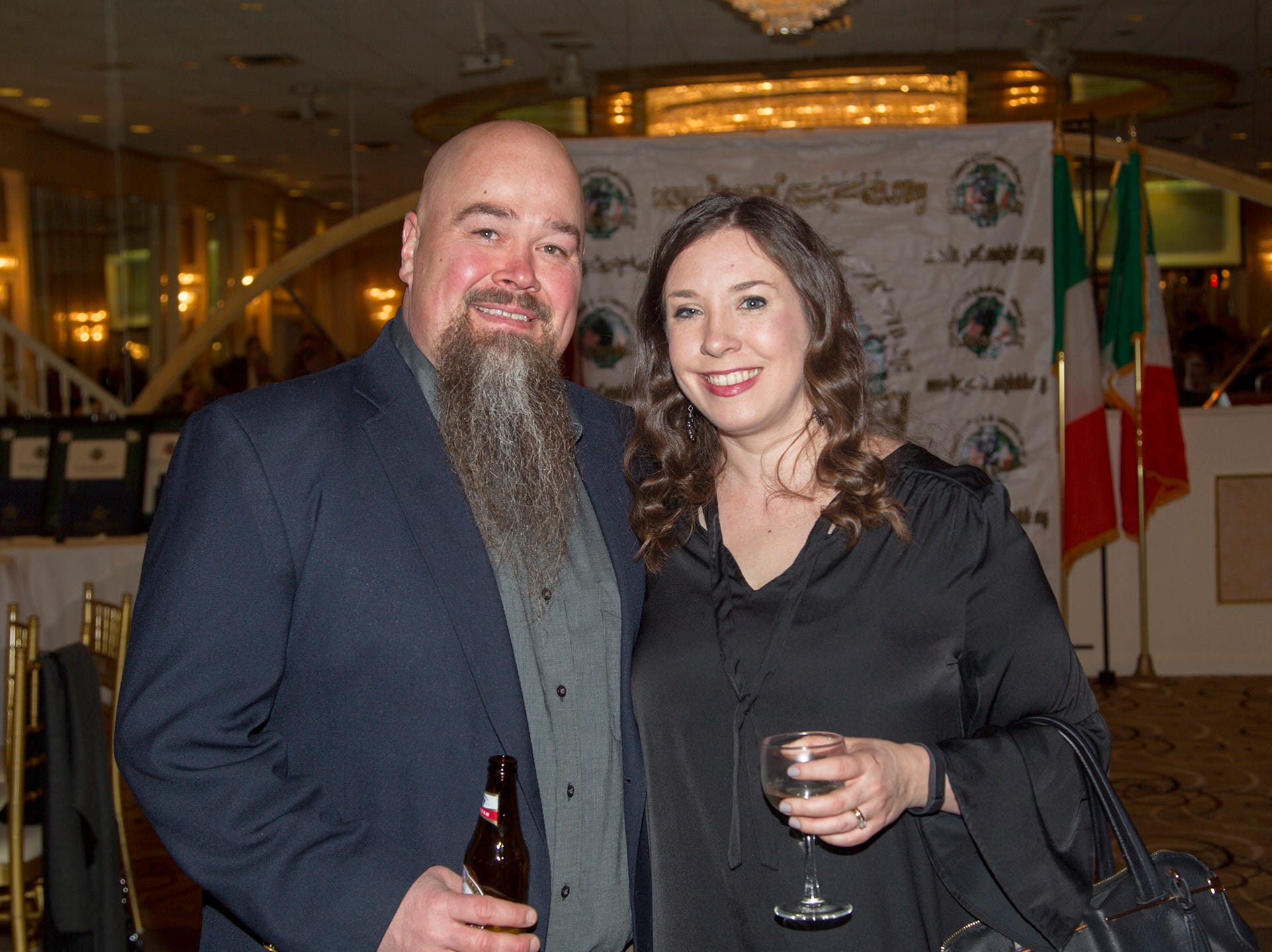 Wayne Hagg, Deirdre O'Reilly. 38th Annual St. Patrick's Day parade Installation Dance at The Graycliff in Moonachie. 2/23/2019