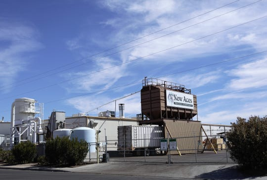 The New Aces Pecan Company plant is seen on Entrada Del Sol near Triviz Drive in Las Cruces on Monday, Feb. 25, 2019.
