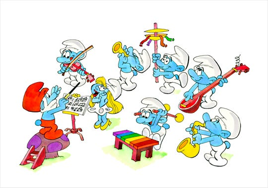 """Smurf Orchestra"" by Ron Campbell"