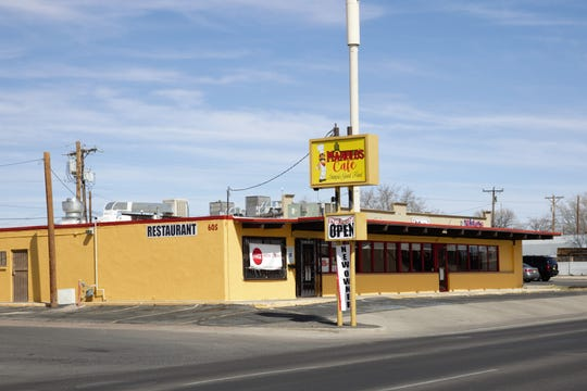 Manolo's Cafe opened in January, in the space formerly occupied by Las Brasas Mexican Grill at 605 E. Lohman Avenue near downtown Las Cruces. Seen on February 25, 2019.