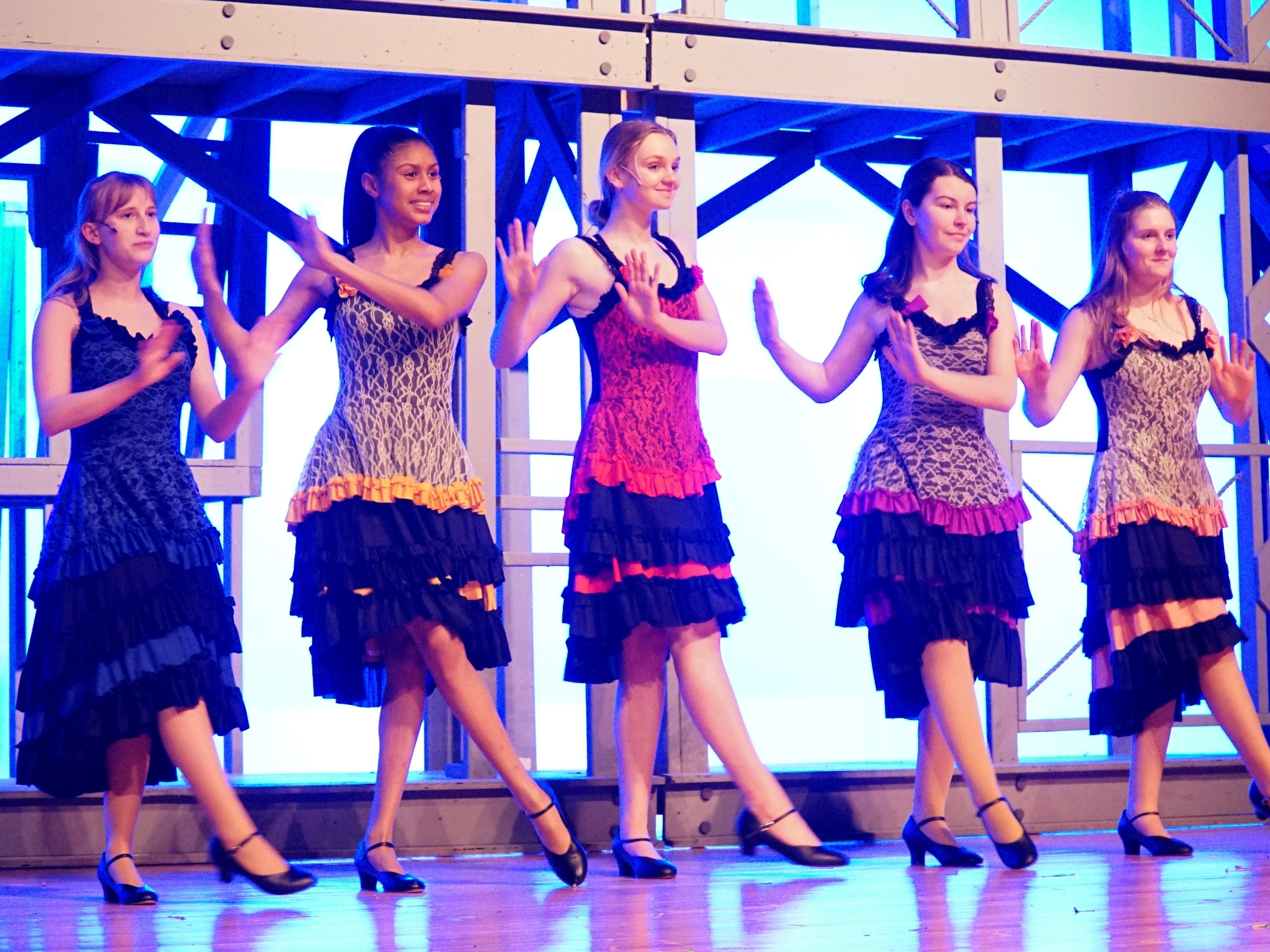 Mercy High students perform a dance number from Newsies.