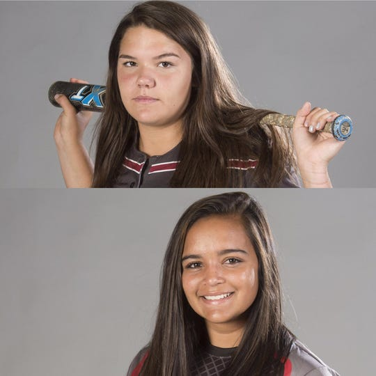 Shelby Ullrich (top), Jeya Prasad (bottom) and Avery Beauchaine (not pictured) are this week's nominees for PNJ Softball Player of the Week.