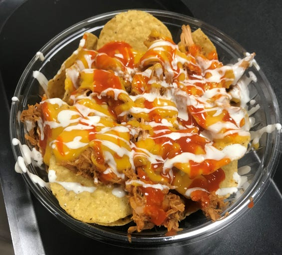 The buffalo chicken nacho at American Family Fields of Phoenix.