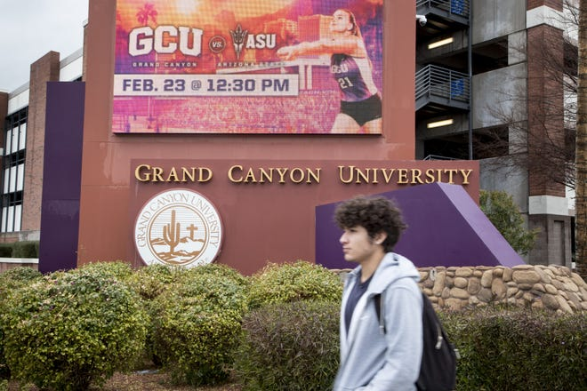 Grand Canyon University is shown Feb. 21, 2019, at 3300 W. Camelback Road in Phoenix.