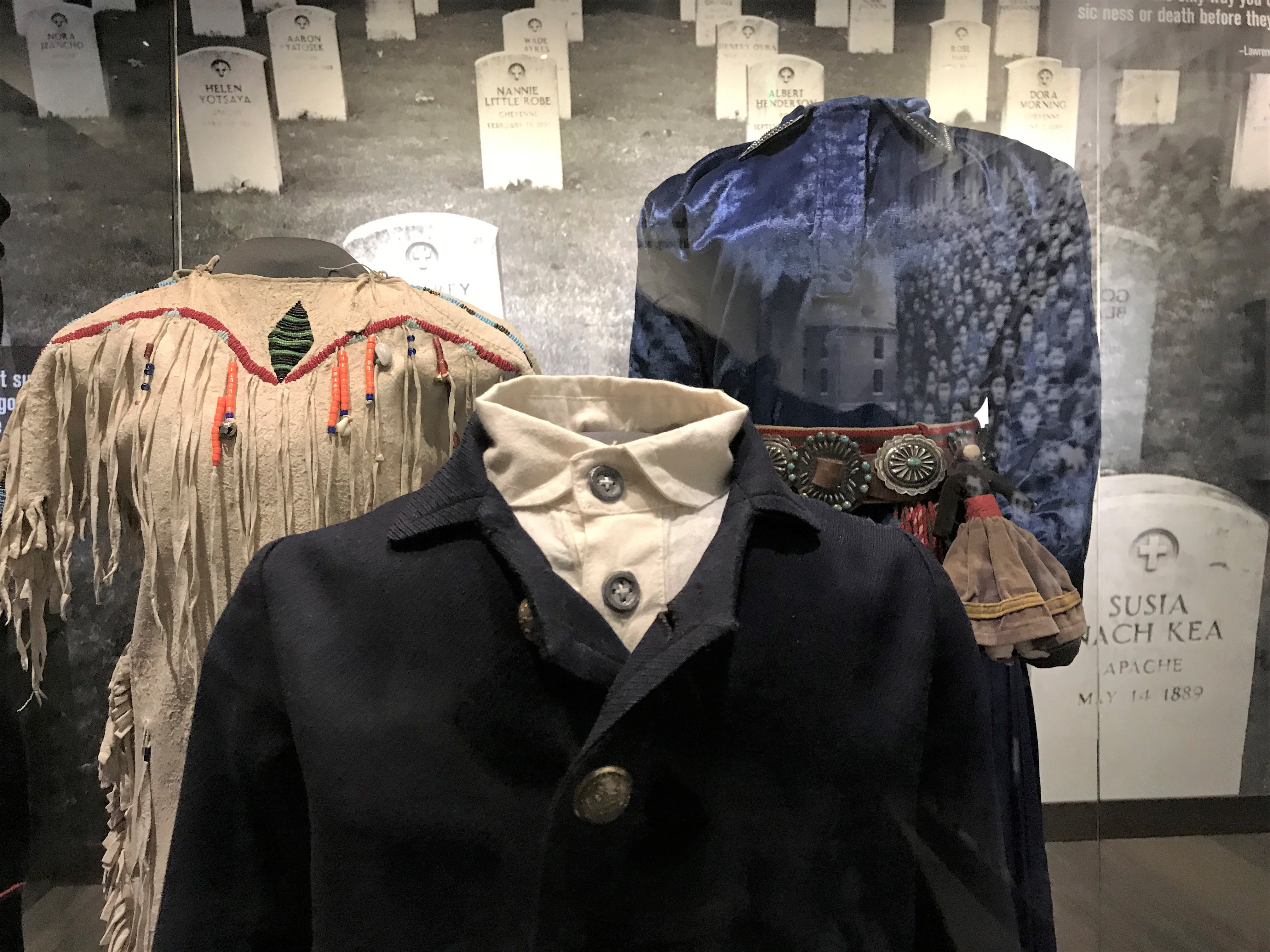 """Scenes from the Head Museum's exhibit  """"Away From Home: American Indian Boarding School Stories."""""""