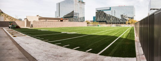 A view of the Bro & Blegen agility field located north of Sun Devil Stadium.