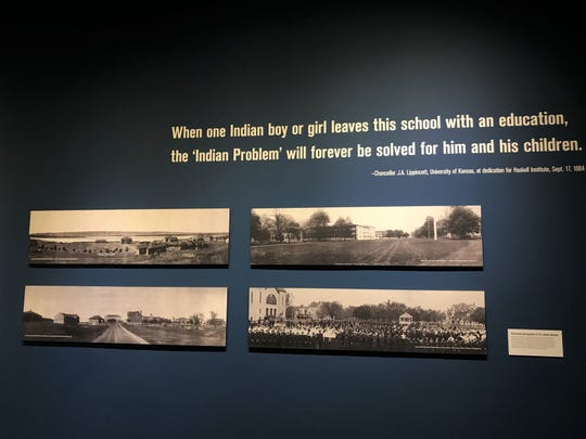 """Scenes from the Heard Museum's """"Away From Home: American Indian Boarding School Stories"""" exhibit"""