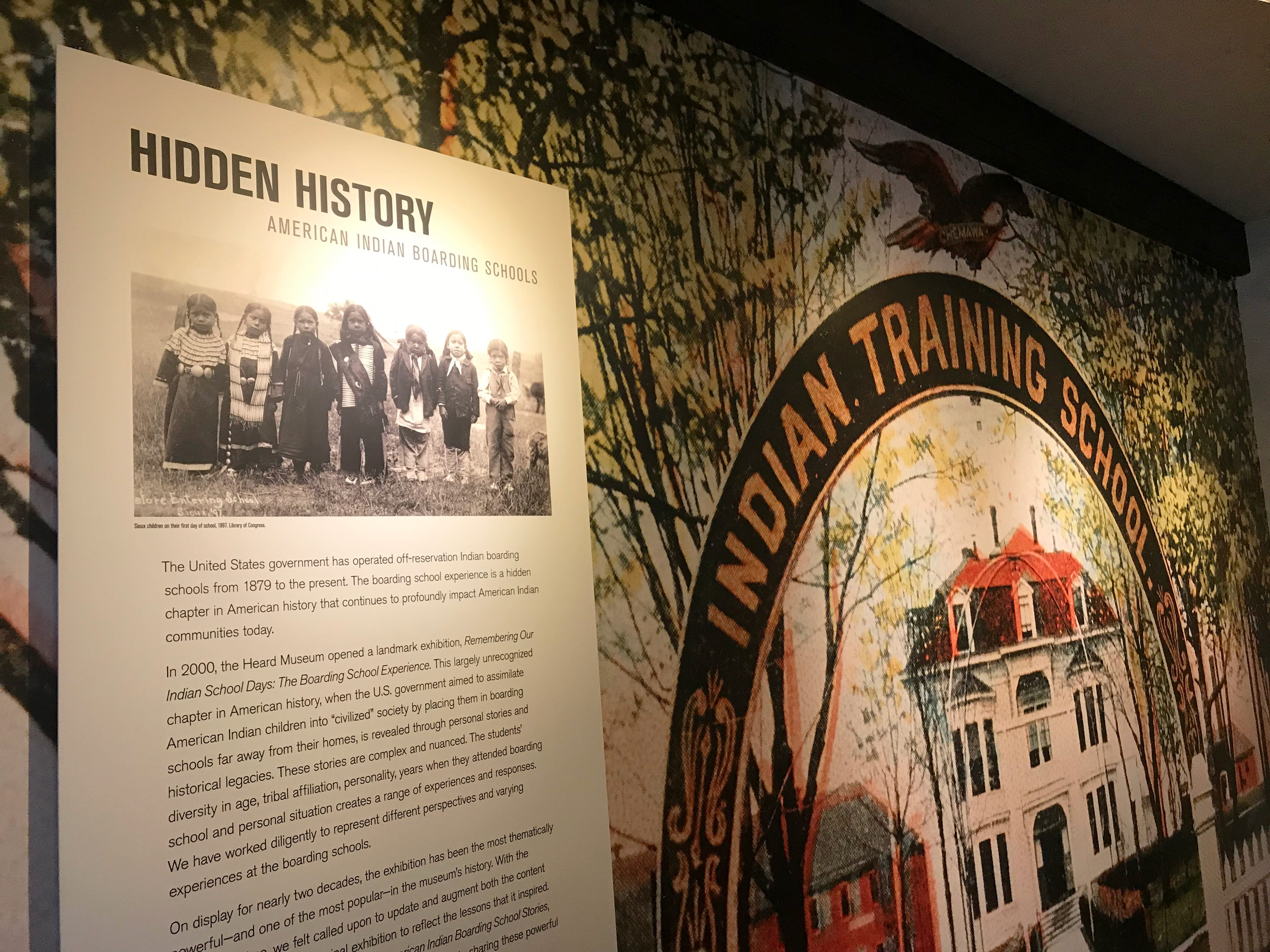 """Scenes from the Heard Museum's renovated exhibit """"Away From Home: American Indian Boarding School Stories."""""""