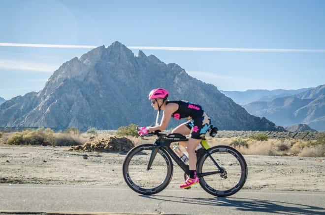 Arizona Sen. Kyrsten Sinema competed in an Ironman race in New Zealand on Saturday.