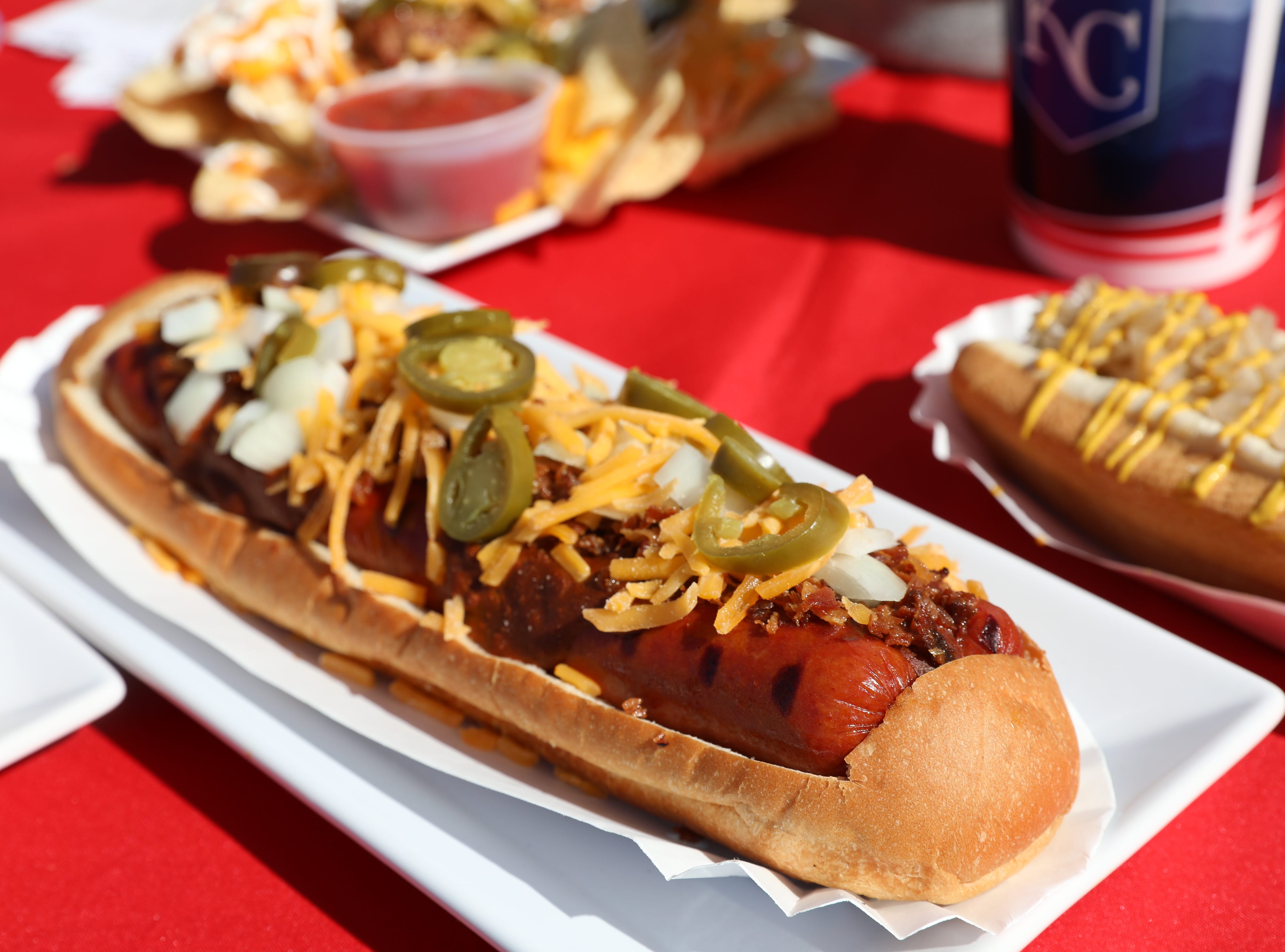 The Double Dog Dare You hotdog at Surprise Stadium.
