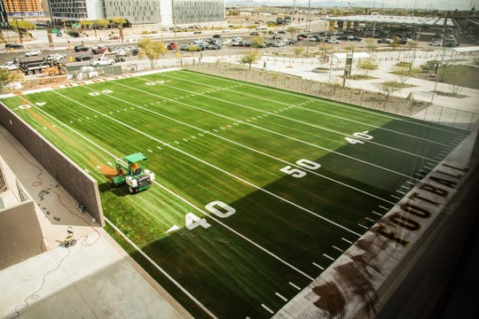 A view of ASU's new Bro and Blegen Agility Field, which is located north of Sun Devil Stadium.