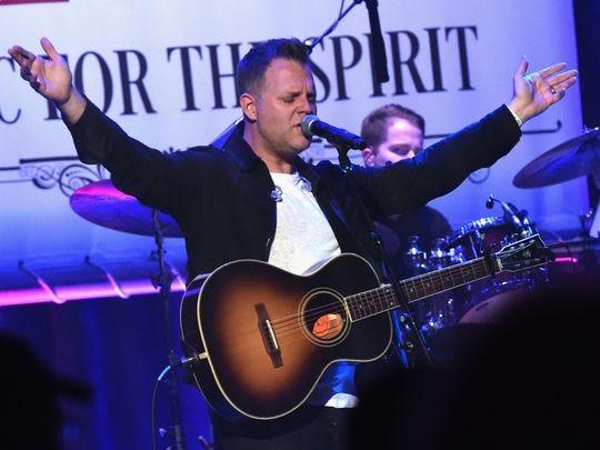 El cantante Matthew West se presenta en Sam's Place - Music For The Spirit 2017 el 7 de mayo de 2017, en Nashville, Tennessee.