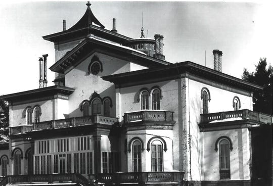 Built in 1853 by Joseph Curtis, this mansion once occupied the northern section of what is today the Frederick Vanderbilt estate in Hyde Park. The stately structure featured a drawing room, library, study and a 140-foot tower and was destroyed by fire in 1899. It sat just north of today's visitor parking lot.