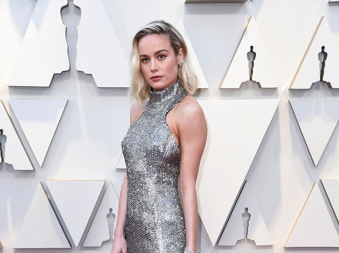 Brie Larson arrives at the Oscars on Sunday, Feb. 24, 2019, at the Dolby Theatre in Los Angeles. (Photo by Richard Shotwell/Invision/AP)