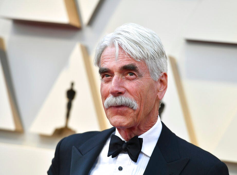 Sam Elliott arrives at the Oscars on Sunday, Feb. 24, 2019, at the Dolby Theatre in Los Angeles. (Photo by Jordan Strauss/Invision/AP)