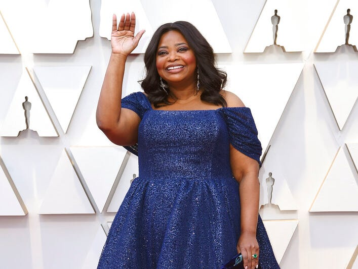 Octavia Spencer arrives at the Oscars on Sunday, Feb. 24, 2019, at the Dolby Theatre in Los Angeles. (Photo by Richard Shotwell/Invision/AP)