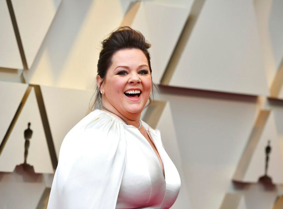 Melissa McCarthy arrives at the Oscars on Sunday, Feb. 24, 2019, at the Dolby Theatre in Los Angeles. (Photo by Jordan Strauss/Invision/AP)
