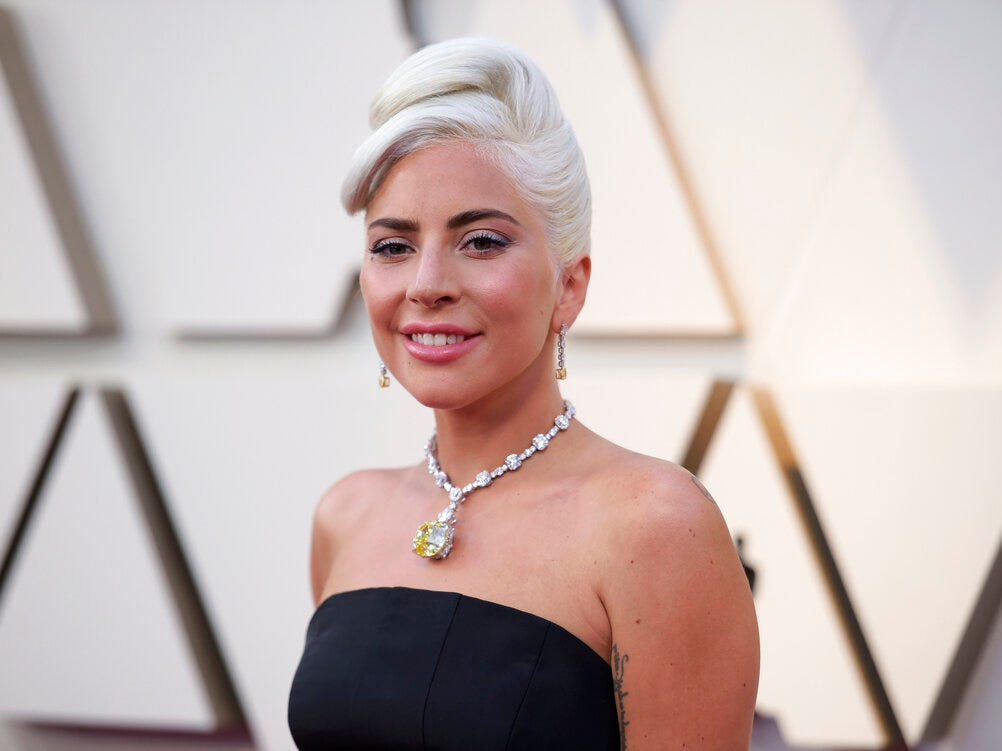 Lady Gaga arrives at the Oscars on Sunday, Feb. 24, 2019, at the Dolby Theatre in Los Angeles. (Photo by Richard Shotwell/Invision/AP)