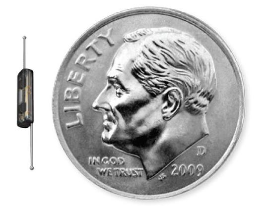 The SAVI SCOUT® is a very small metallic marker, smaller than the size of a dime.