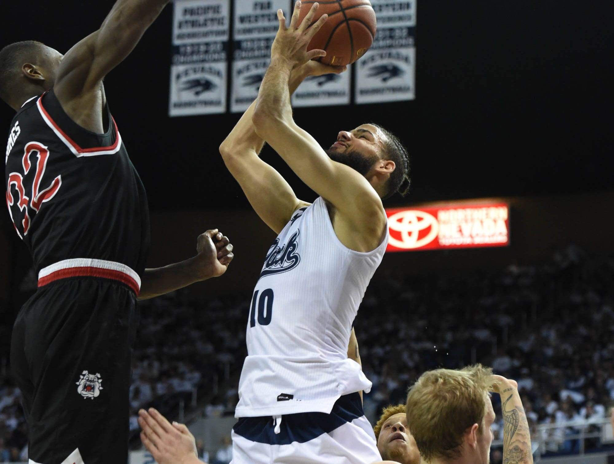 Images from the Fresno State at Nevada on Saturday Feb. 23, 2019