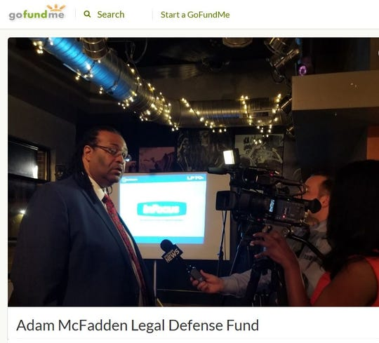 Rochester City Councilman Adam McFadden has started an online fundraising campaign for his legal defense.