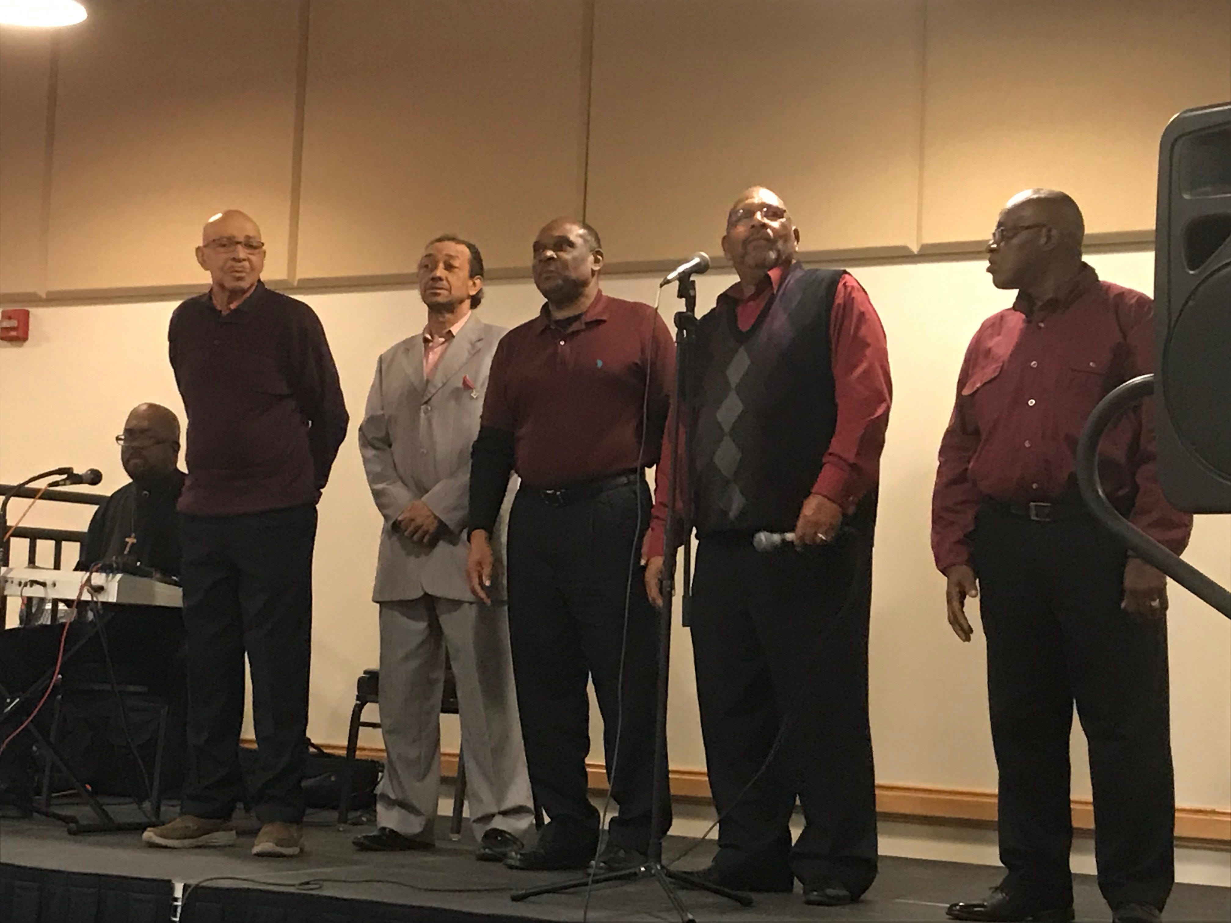 Gospel singers Roland Major and the Morris Singers entertain attendees at Eastern Shore Community College's Heritage Festival on Saturday, Feb. 23, 2019.