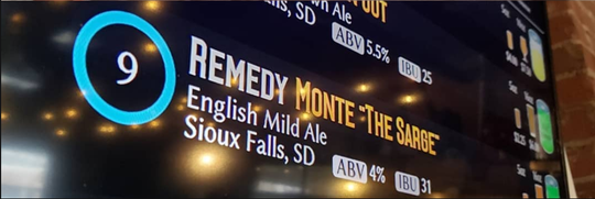 "Monte ""The Sarge,"" on Remedy Brewing Company's menu"