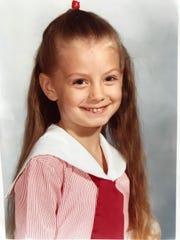 Alina Lehnert as a child