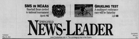 "May 28, 2002: This was the final day that ""'Tis a privilege to live in the Ozarks"" appeared in the masthead of the News-Leader."