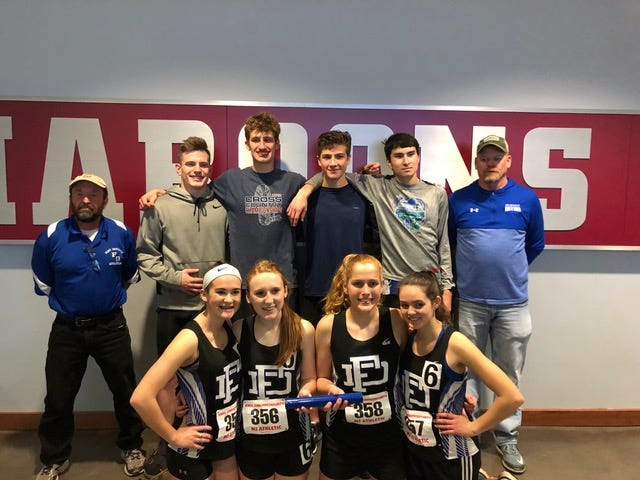 The Fort Defiance boys 4x800 relay team (Matt Wonderley, Jacob Jones, Ben Smoker, Ben Harlow) finished runners-up in Friday's Class 3 state meet. The girls 4x800 relay team (Dagon Wheeler, Allison Sheets, Samantha Turner, Delaney Stogdale) finished fourth in the state.