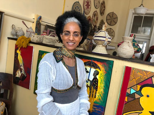 Zewdinesh Alemayehu originally opened her store Zewd's Arts, Crafts and More in Staunton's old Stonewall Jackson Schoolhouse on Beverley Street. The store offers goods she collected from her home in Ethiopia. Her store is now located at 13 E. Beverley St.