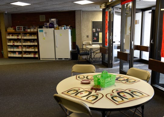 A corner of Pleasantview Elementary School has been converted into additional space for teachers as of Monday, Feb. 25.