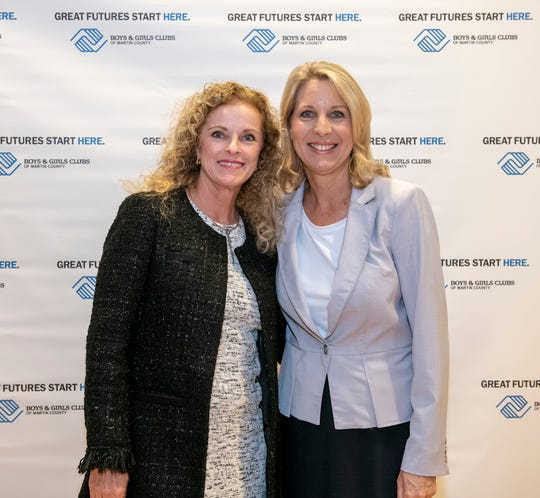 Denise Ehrich and Tammy Matthew at the Great Futures Dinner of the Boys & Girls Clubs of Martin County.