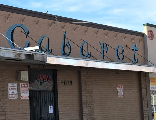 The Cabaret strip club at 4834 Montana Ave. in Central El Paso.