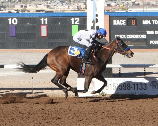 Victim of Love won the Island Fashion Stakes on Sunday at Sunland Park Racetrack & Casino. It is a prep race for next month's Sunland Oaks.