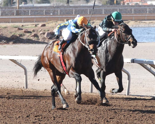 Runaway Ghost won the Curribot Handicap Sunday at Sunland Park Racetrack & Casino for his second win of the year.