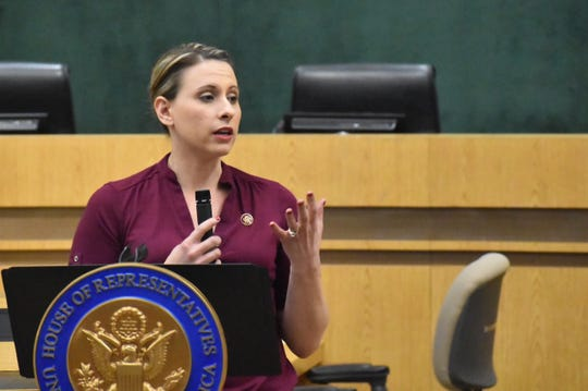 Congresswoman Katie Hill told Simi Valley residents one of her goals as a freshman lawmaker is to attack corruption.