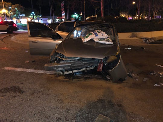 A 23-year-old Oxnard man was arrested on suspicion of multiple felony offenses in Santa Barbara Sunday night after an accident that seriously injured five people.