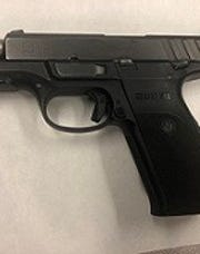 Oxnard police say they found a stolen and loaded firearm during a traffic stop Sunday night.