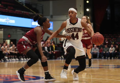 Ossining defeated Alberts Magnus 66-38  girls basketball Section 1 Class AA playoff action at the Westchester County Center in White Plains  Feb. 25,  2019.