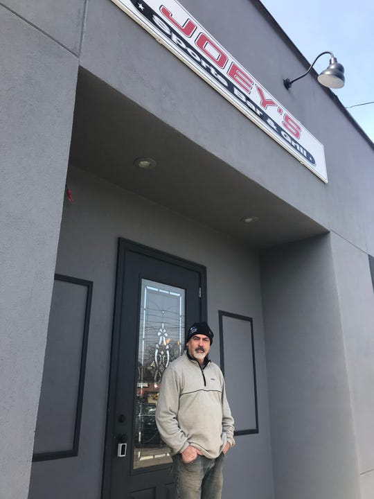 Joe Ramalho outside his new Port Chester bar, Joey's Sports Bar & Grill in Port Chester. Photographed Feb. 22, 2019.