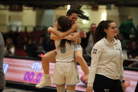 Ursuline beat Lourdes 61-58 in their Section 1 class AA basketball semifinal at the Westchester County Center Feb. 25, 2019.