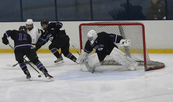 John Jay defeated Pelham 5-1 in  the Section 1 Division II championship hockey game at Sport-o-Rama in Monsey Feb. 24, 2019.