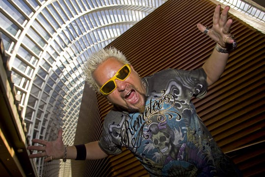 """A 2009 portrait of Guy Fieri, star of the Food Network shows, """"Diners, Drive-in and Dives"""" and """"Guy's Grocery Games."""""""
