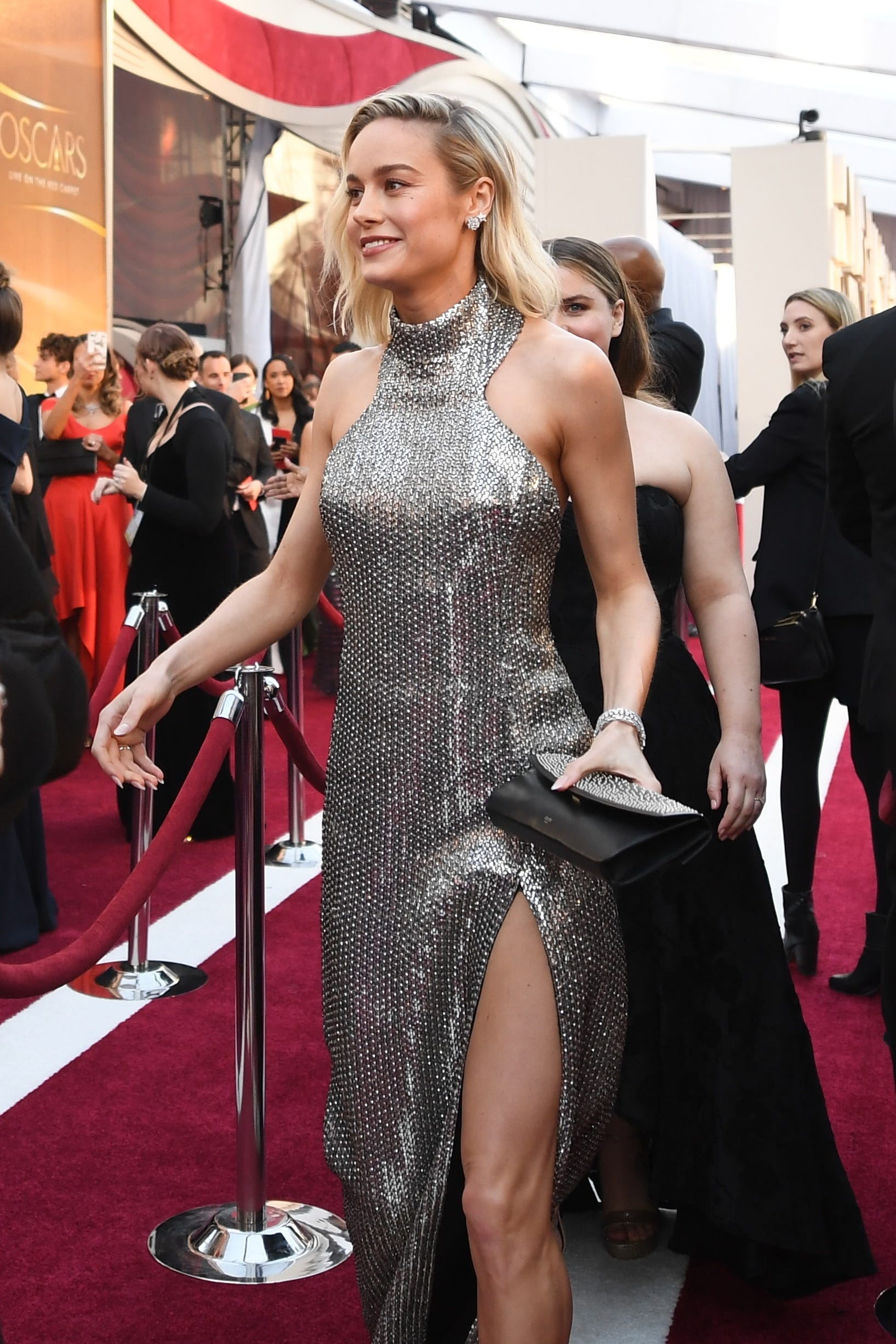 February 24, 2019; Los Angeles, CA, USA; Brie Larson arrives at the 91st Academy Awards at the Dolby Theatre. Mandatory Credit: Robert Hanashiro-USA TODAY NETWORK (Via OlyDrop)