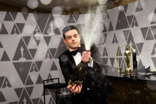 HOLLYWOOD, CALIFORNIA - FEBRUARY 24: Rami Malek, winner of the Actor in a Leading Role award for 'Bohemian Rhapsody,' attends the 91st Annual Academy Awards Governors Ball at Hollywood and Highland on February 24, 2019 in Hollywood, California. (Photo by Kevork Djansezian/Getty Images) ORG XMIT: 775287315 ORIG FILE ID: 1131956497