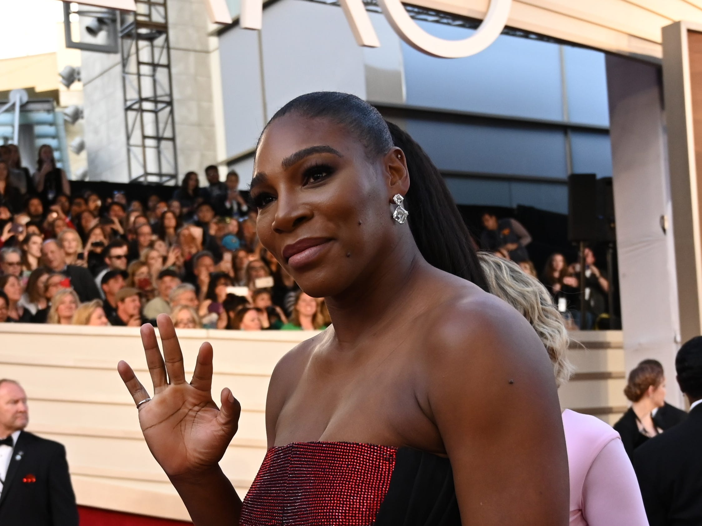 February 24, 2019; Los Angeles, CA, USA; Serena Williams arrives at the 91st Academy Awards at the Dolby Theatre. Mandatory Credit: Robert Hanashiro-USA TODAY NETWORK (Via OlyDrop)
