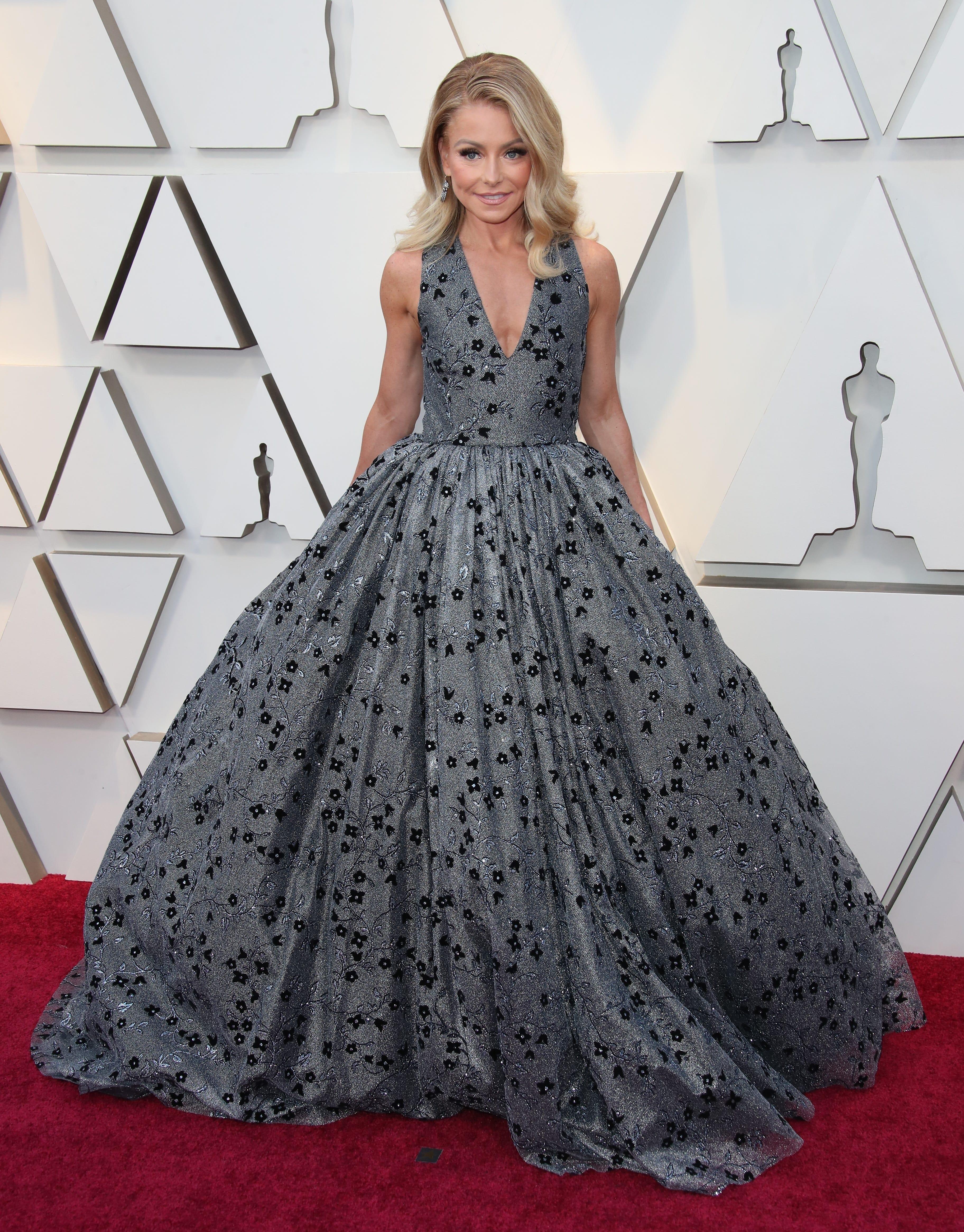 February 24, 2019; Los Angeles, CA, USA; Kelly Ripa arrives at the 91st Academy Awards at the Dolby Theatre. Mandatory Credit: Dan MacMedan-USA TODAY NETWORK (Via OlyDrop)