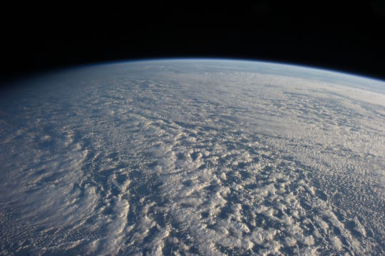 A layer of stratocumulus clouds above the northwestern Pacific Ocean about 460 miles east of northern Honshu, Japan, as seen from aboard the International Space Station.
